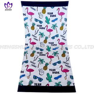 LL69 100%cotton reactive printing beach towel