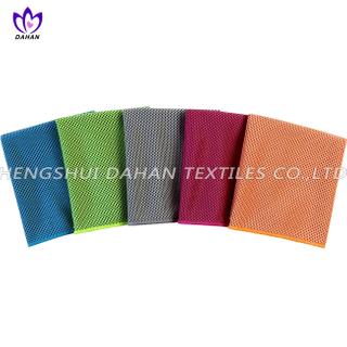 MC89 100%polyester plain colour microfiber cooling towel