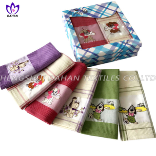 EMQ17 100%cotton embroidery tea towel,kitchen towel.