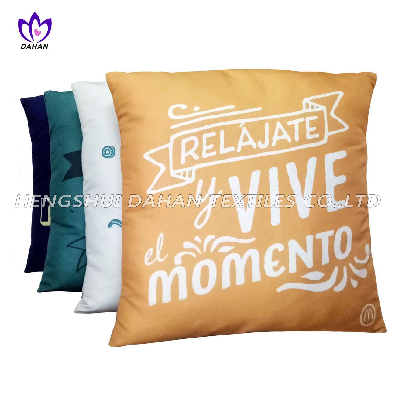BC01 100%polyester printing back cushion,bolster.