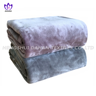 KX15 plain dyed velour flannel blanket