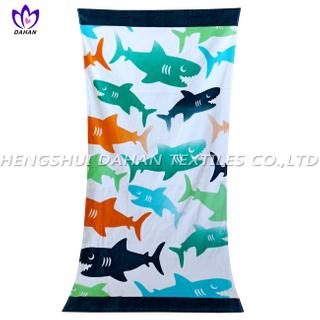 LL97 100%cotton reactive printing beach towel