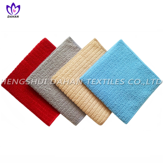 N561903-1 100%polyester plain colour mesh cloth microfiber towel 6pack