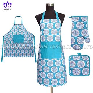 AGP81 Printing apron,oven mitt,pot pad, 3pack.