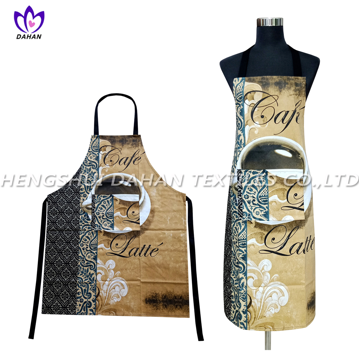 AGP75 100%cotton twill printing waterproof apron.