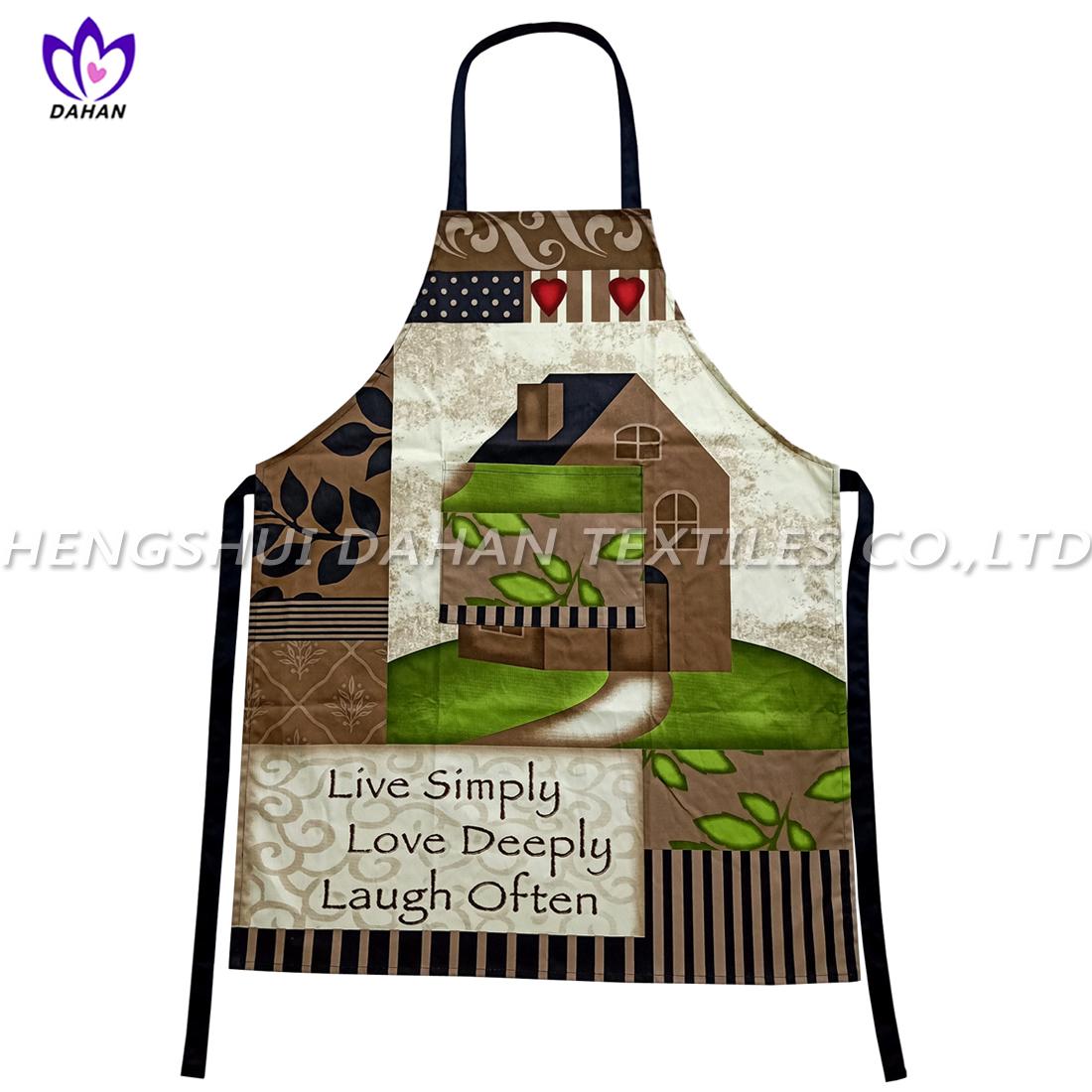 AGP76 100%cotton twill printing waterproof apron.