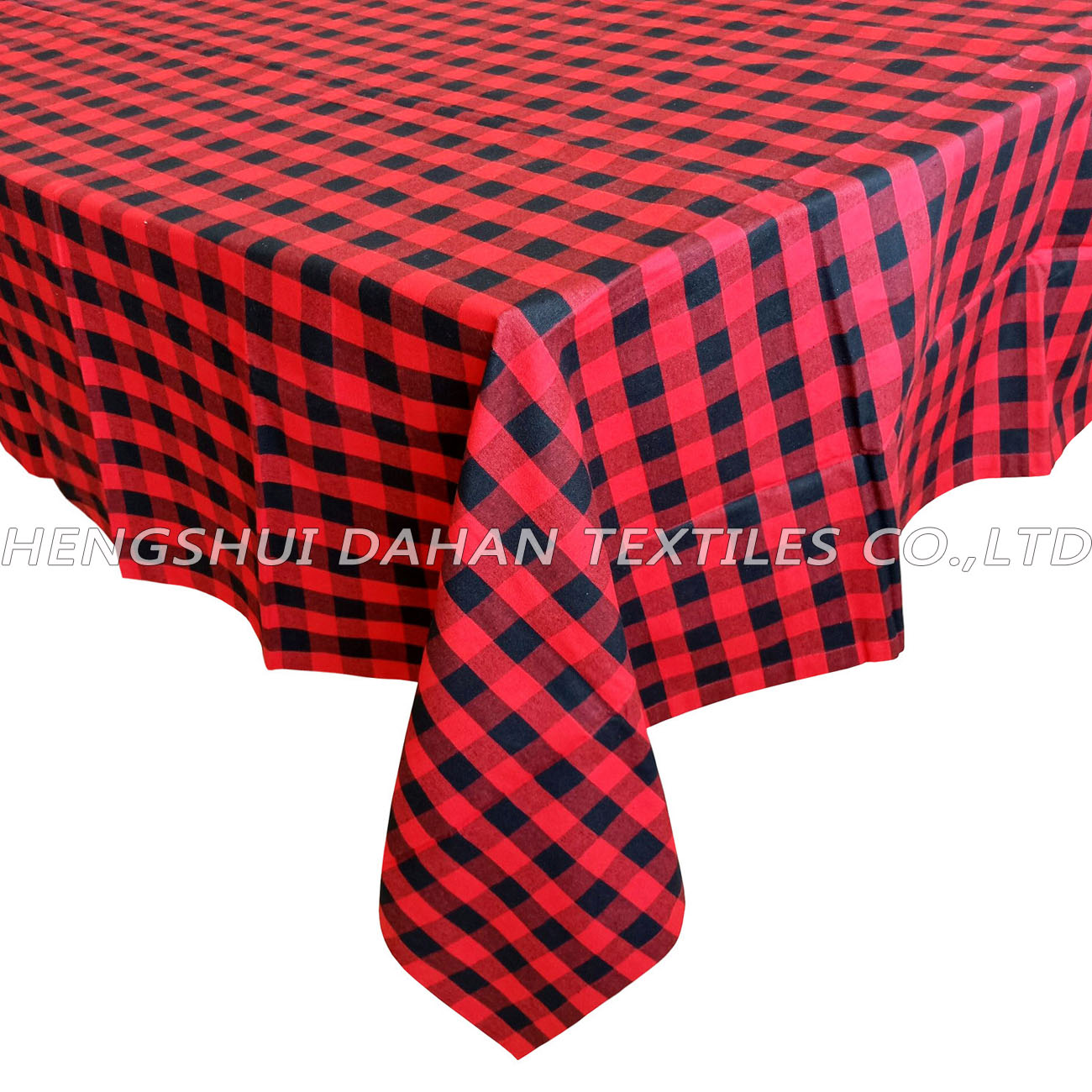 TP13~16 100%cotton grid table cloth-oblong.
