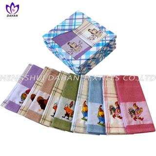 EMQ18 100%cotton embroidery tea towel,kitchen towel.