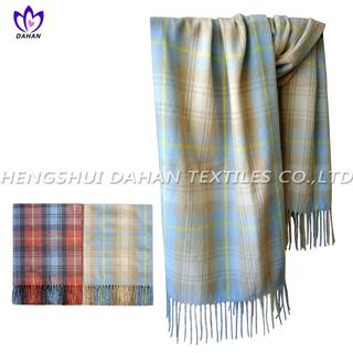 100% acrylic grid scarf shawl.DH11