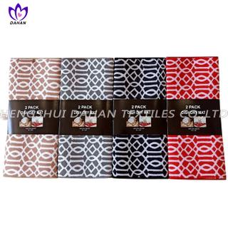 7389 100%polyester plain colour/printing dish drying mat,2pack.