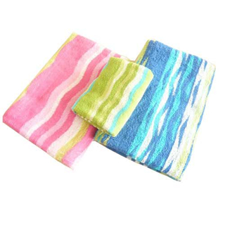 100%cotton printing sanding face towel bath towel set BT06