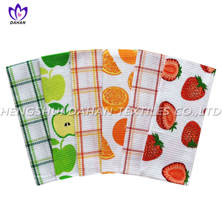 PR26 100%cotton printing tea towel,kitchen towel,2pack.