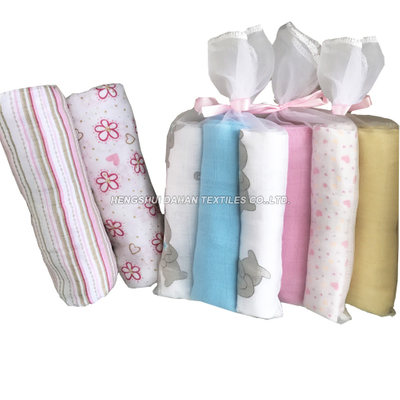 TY01 100%Cotton printed and plain dyed baby napkin