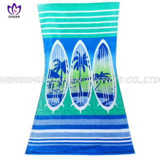 LL65 100%cotton reactive printing beach towel