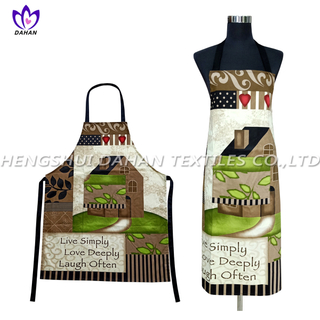 AGP76 100%cotton twill printing waterproof apron.