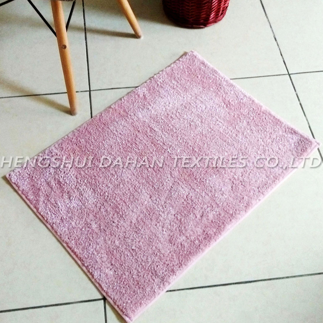 Plain colour filamentary silver ground mat. FC-101