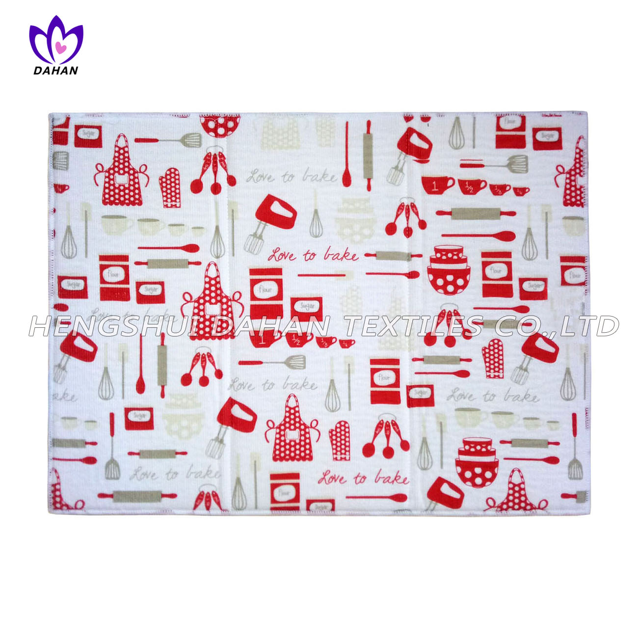 PM01 100%polyester printing dish drying mat-Christmas series.