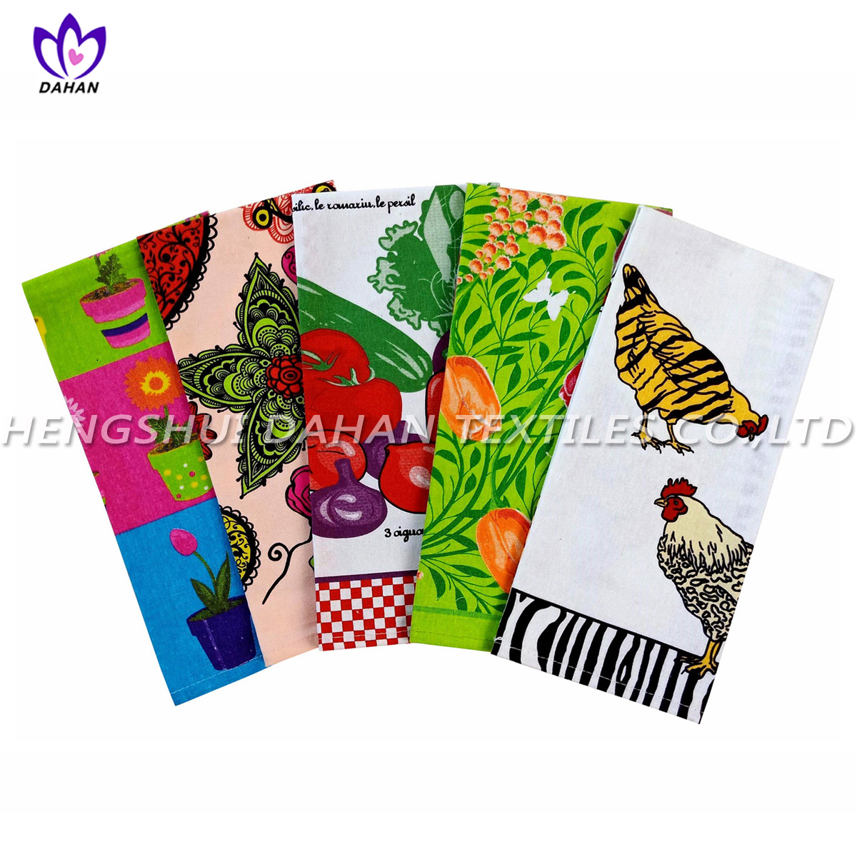 PR30 100%cotton printing tea towel,kitchen towel.