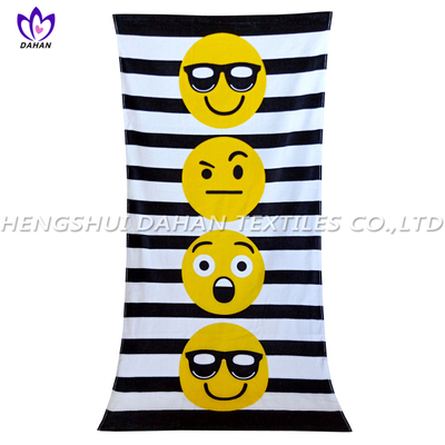 LL96 100%cotton reactive printing beach towel