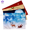 PBT01~04 Christmas series polyester fabric digital printing double-layer placemat.
