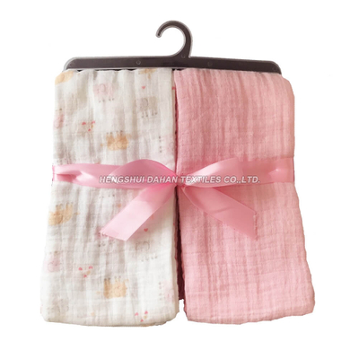 YKN02 100%Cotton printed and plain dyed baby napkin SET