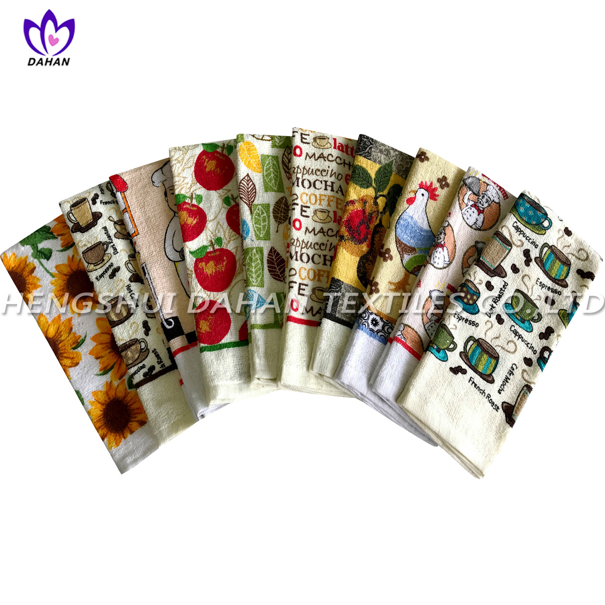 CT35 cotton /polyester printing velour kitchen towel