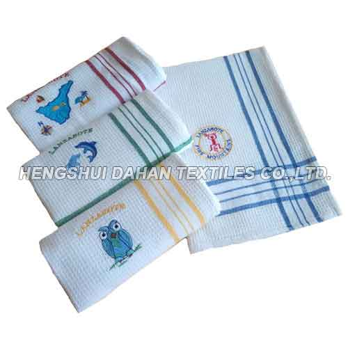100%cotton embroidery tea towel ,kitchen towel EMW161
