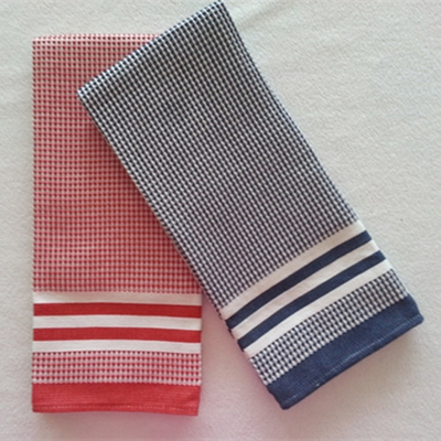 100%cotton thick yarn dyed waffle tea towel ,kitchen towel DY75007