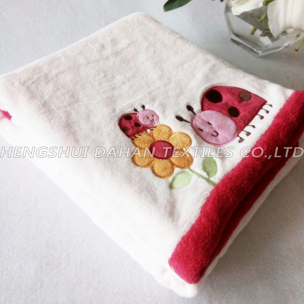 MT23 Microfiber printed coral fleece children blanket.