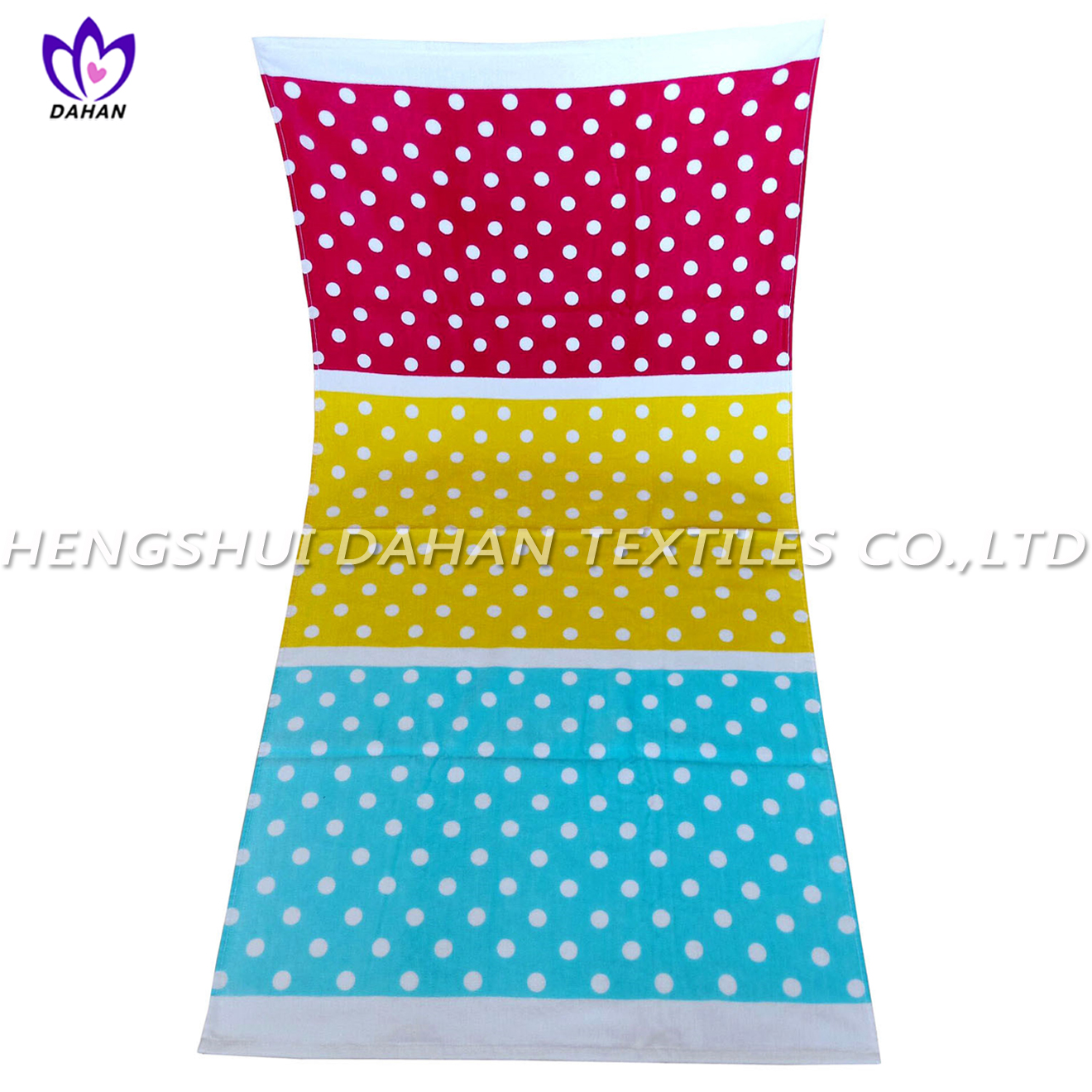 LL18 100%cotton reactive printing beach towel