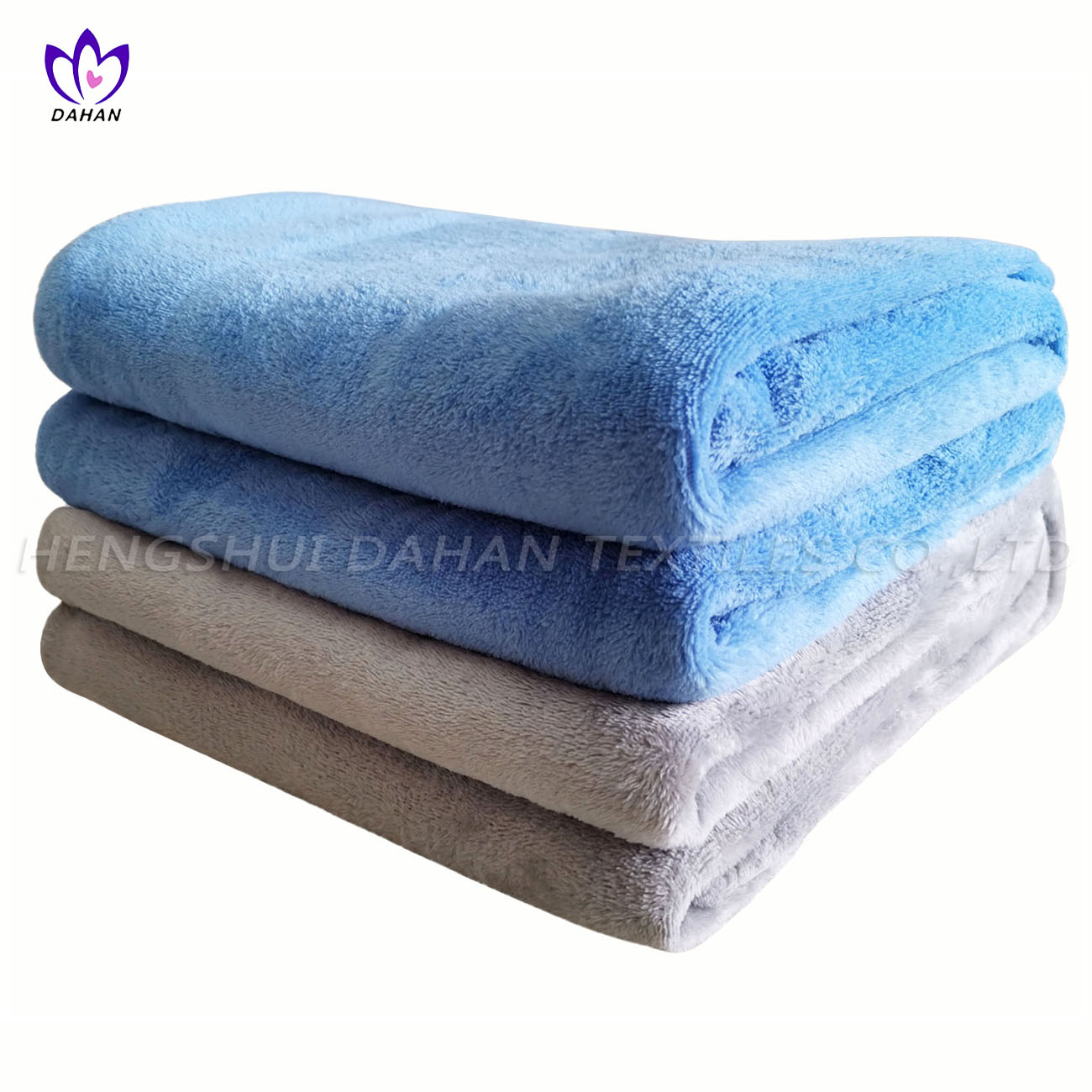 BK28 Solid color microfiber coral fleece blanket.