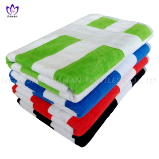 100%cotton multicolor stripe bath towel. CT55