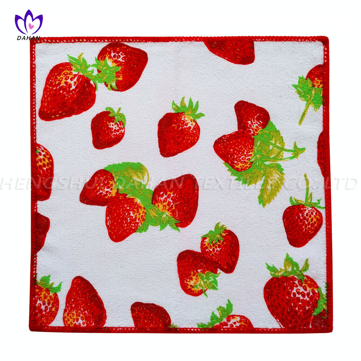 MC126. 100% polyester printing microfiber kitchen towel.