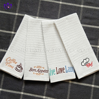 421VW 100%cotton walf checks embroidery towel.