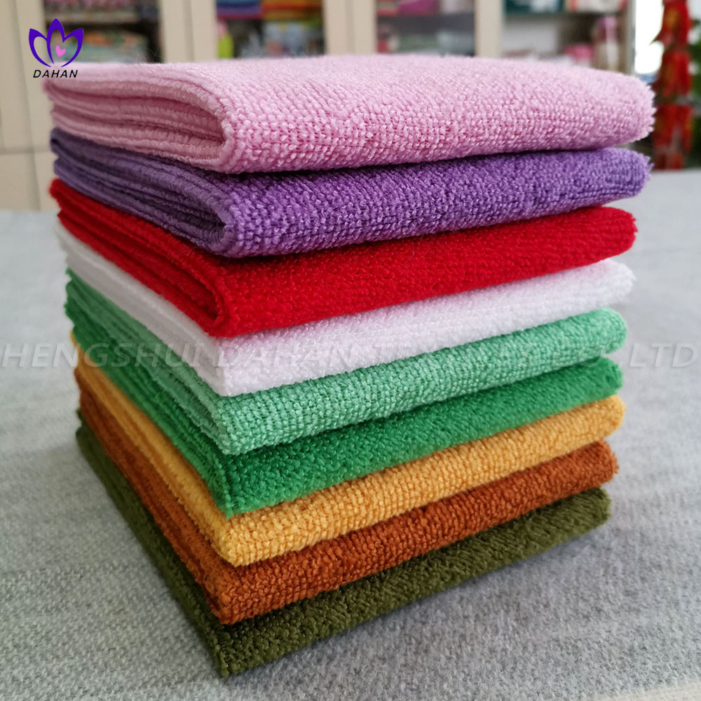2030 Solid color microfiber kitchen towels.